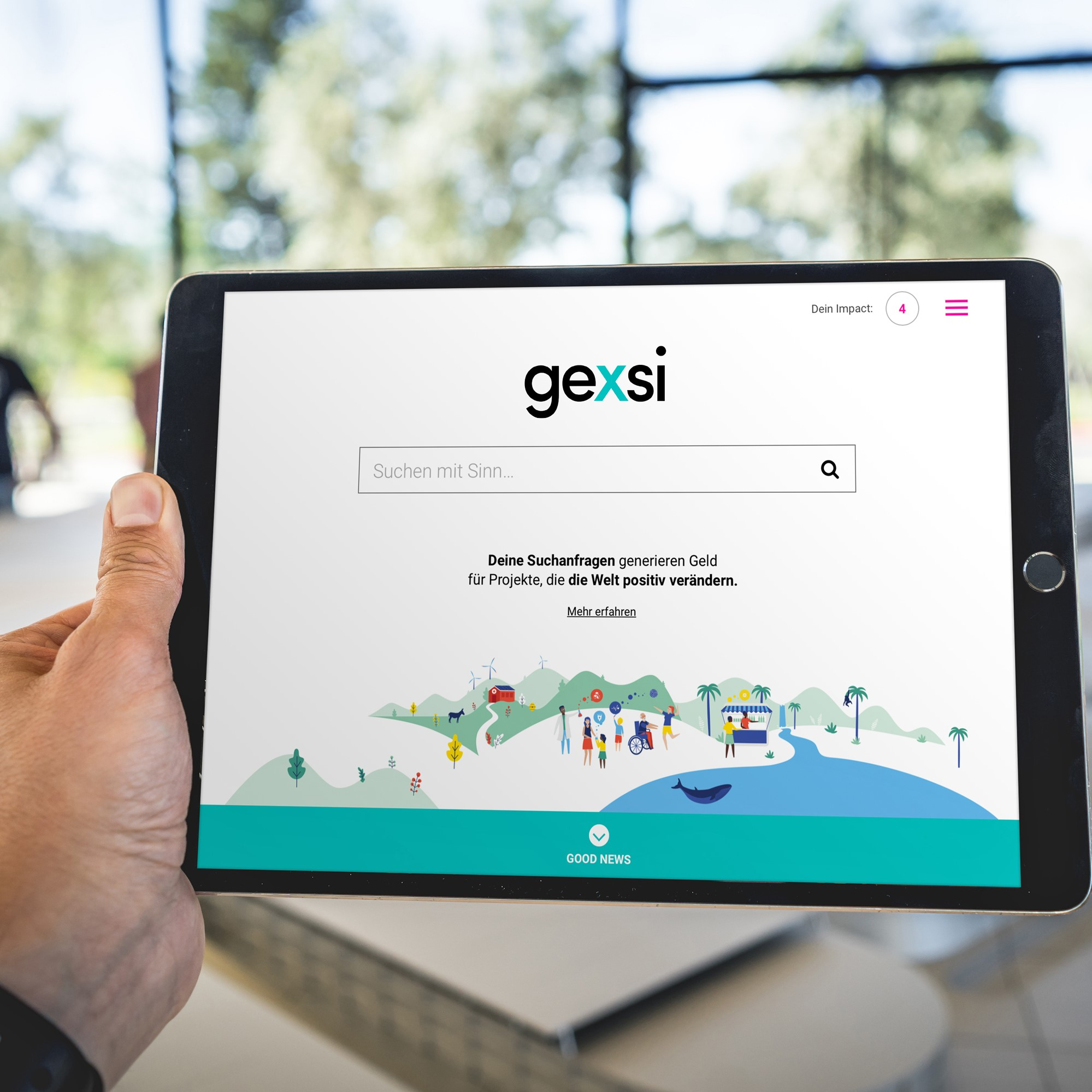 Sustainable search engine generating societal impact.