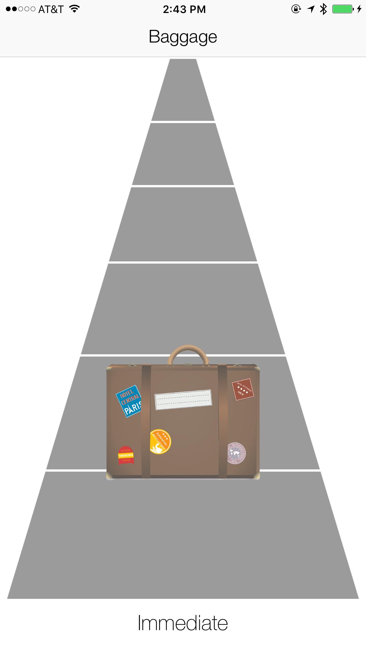 Baggage App Screenshot