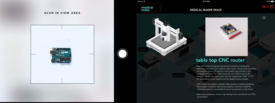 UX UI Design and iOS tablet app Development of Medical Make
