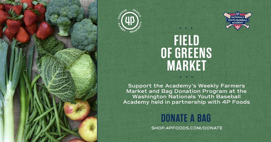 "The Washington Nationals Youth Baseball Academy and 4P Foods invite the public to participate in ""Buy a Bag"" program image"