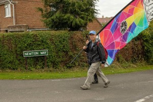 A walker the Newton Way, photograph by Mike Johnston