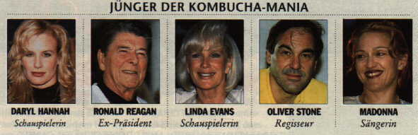 Famous Kombucha Fans - from the German magazine FOCUS
