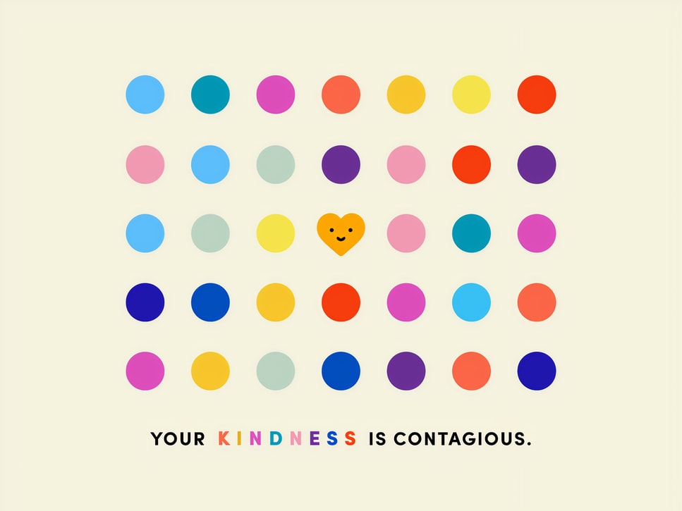 your-kindness-is-contagious-multi-coloured-poster