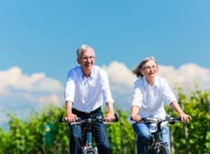 des aines sur biciclette
