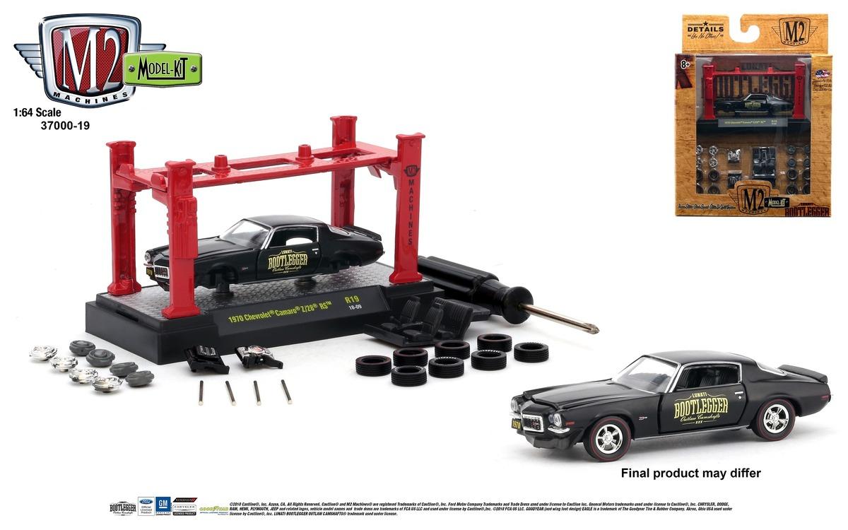 M2 1:64 Kitset's - Model Kit 1.64 scale Release 19 - BOOTLERGGER - 1970 Chevrolet Camaro Z-28 RS - Semi-Gloss Black with Gloss Black Stripe