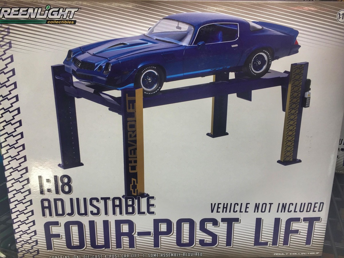 1:18 Scale Accessories - Green Light Four Post Lift - Chev