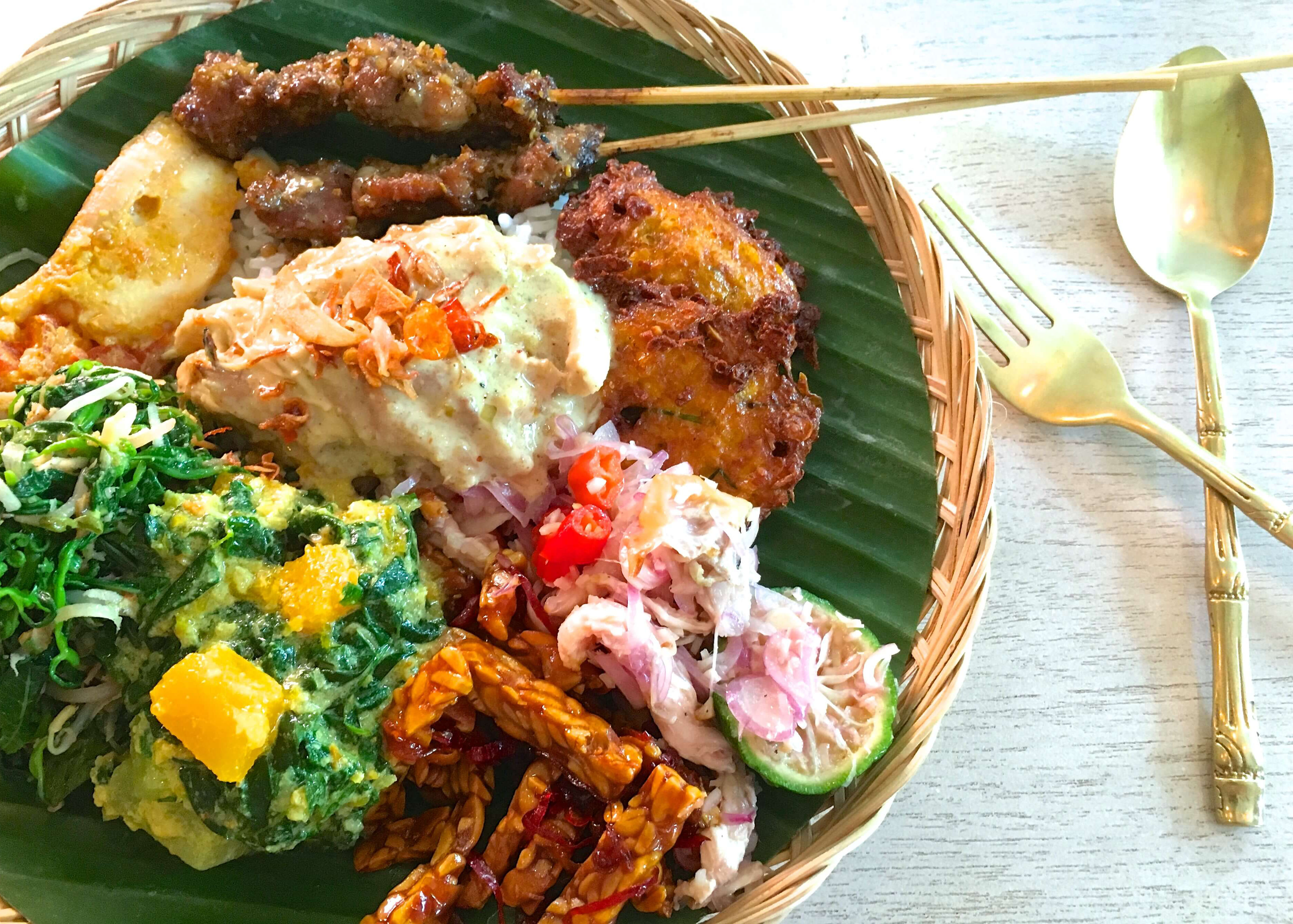 The Best Balinese Nasi Campur in Bali.