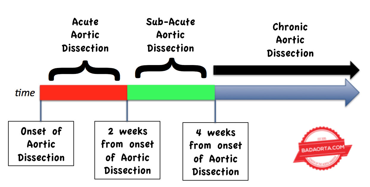 Acute versus chronic aortic dissection