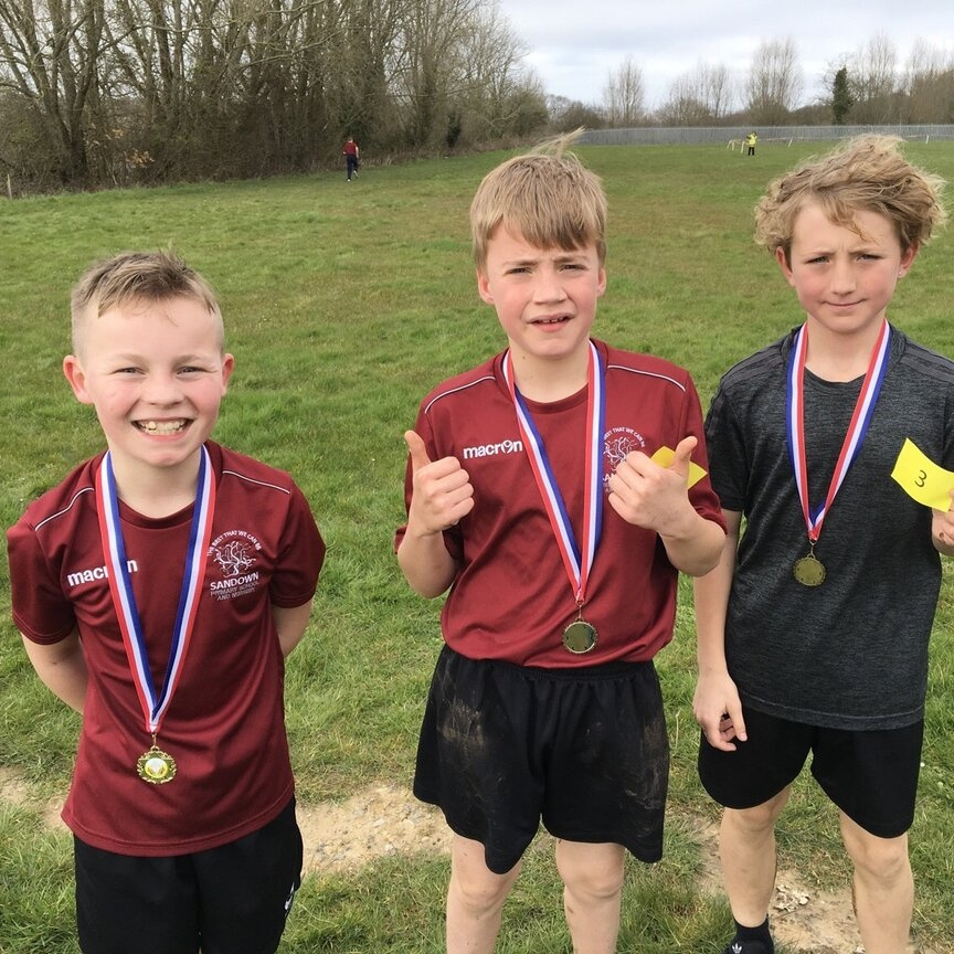 Three boys with their medals