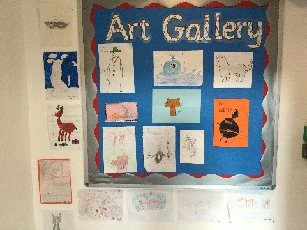 One of our two art galleries for pupil's work