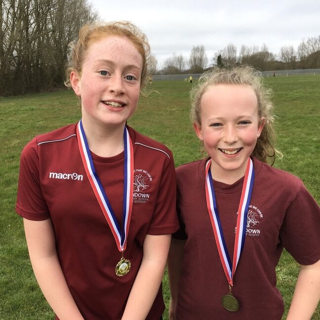 Girls with medals