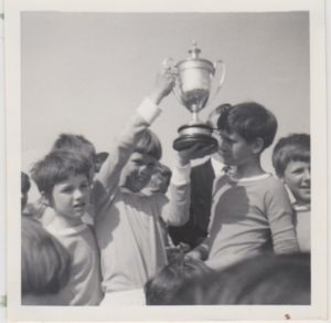 Chris Tutt holding the Collins Cup in 1969