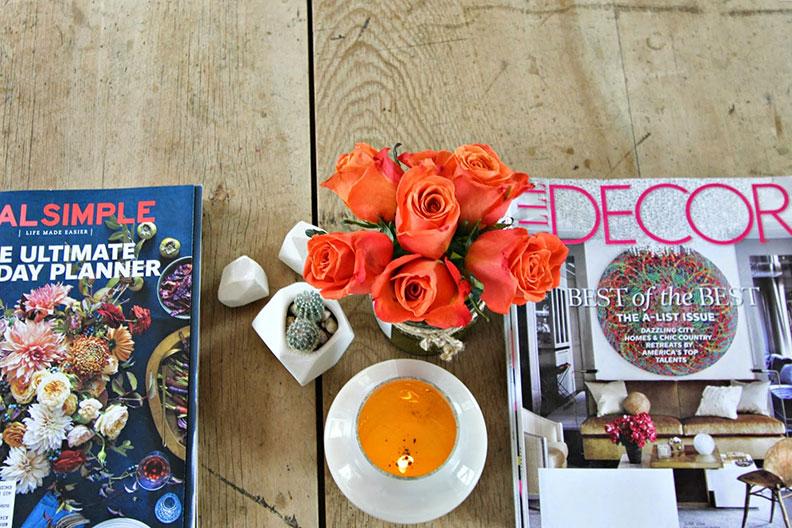 Roses on Desk