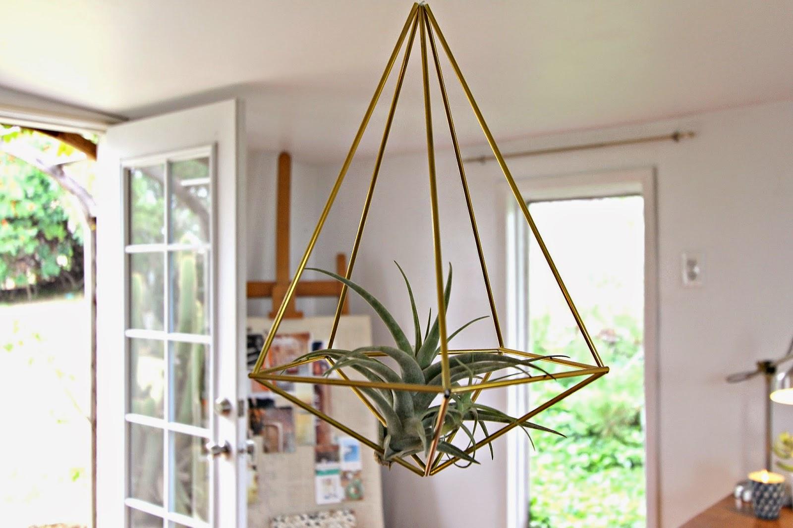 Gold Hanging Terrarium