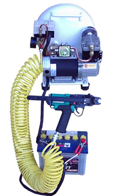 a 4cfm Electric 12volt Compressor.