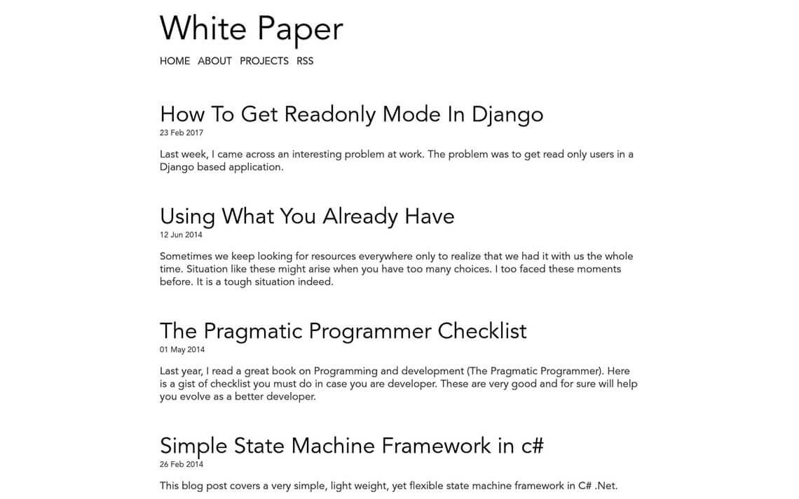 White Paper Jekyll Theme