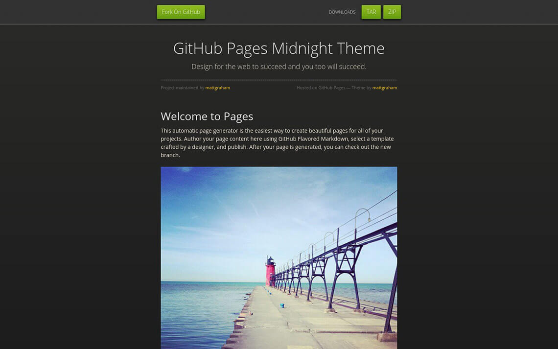 Midnight – GitHub Pages theme – Jekyll Themes