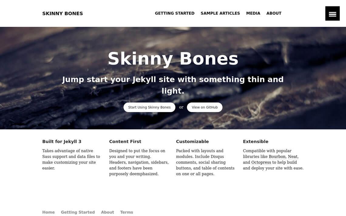 Skinny Bones Jekyll Theme