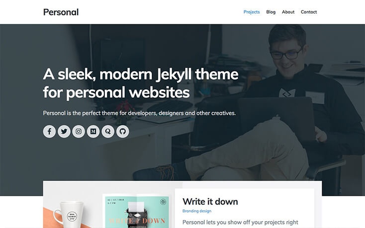 Jekyll Themes – a curated directory