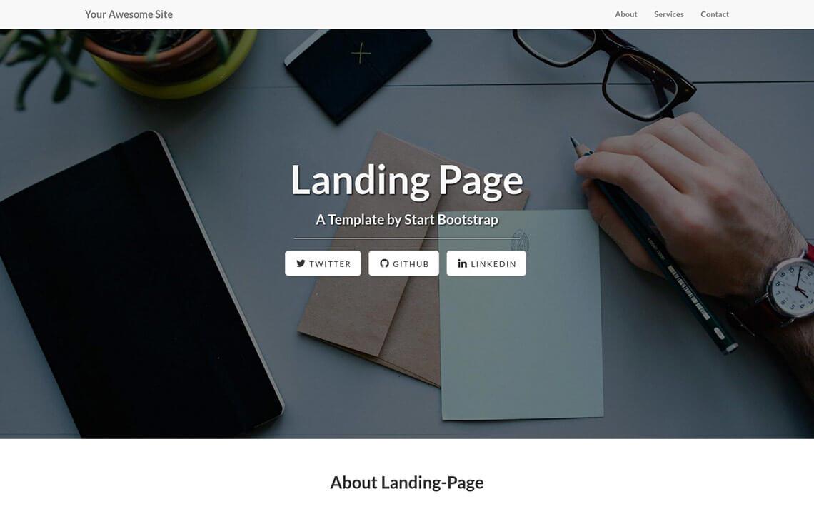 Landing Page Jekyll Theme