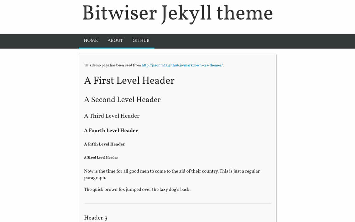 Bitwiser Jekyll Theme