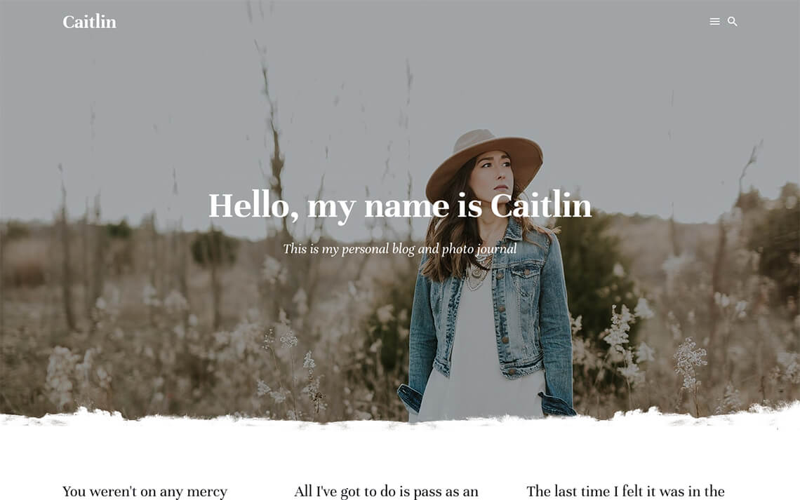 New personal blog theme