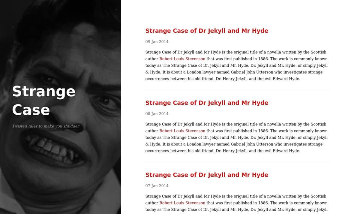 Strange Case Jekyll Theme
