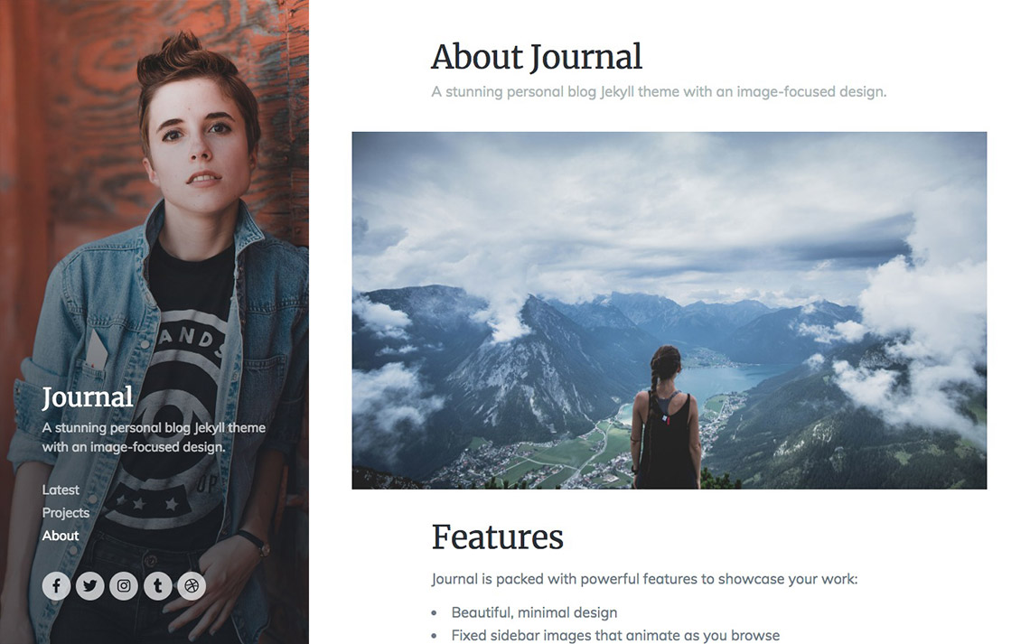 Journal Jekyll Theme