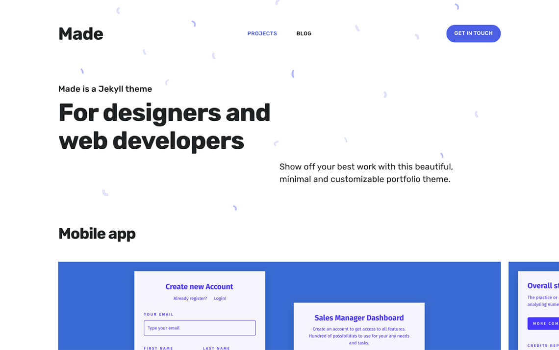 Made, a new portfolio theme