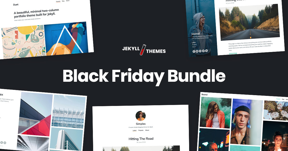 Black Friday Jekyll themes bundle