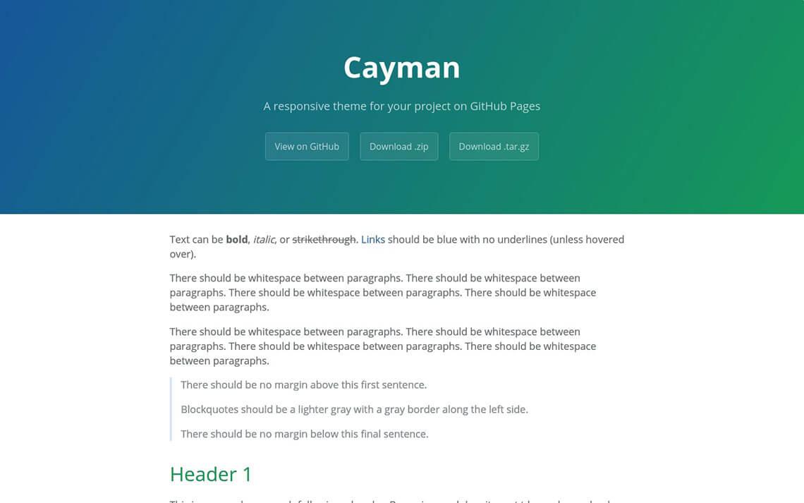 Cayman Jekyll Theme