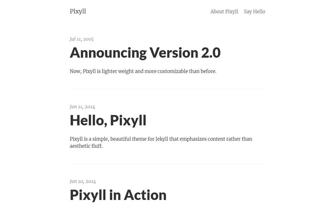 Pixyll Jekyll Theme