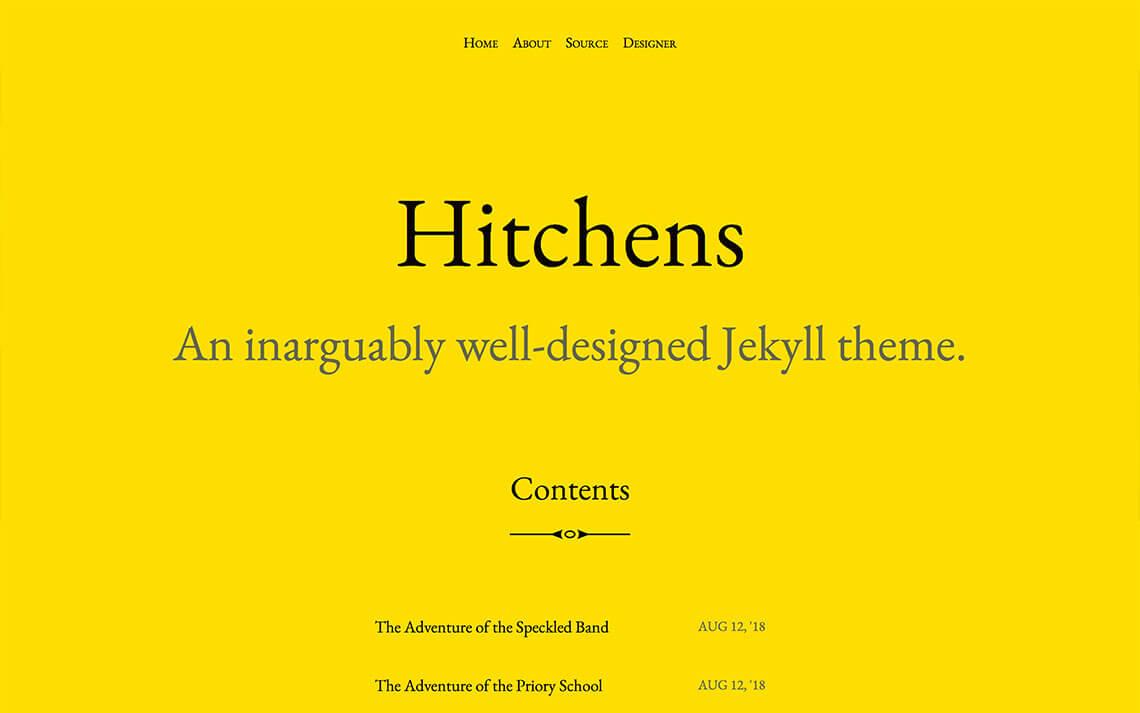 Hitchens Jekyll Theme