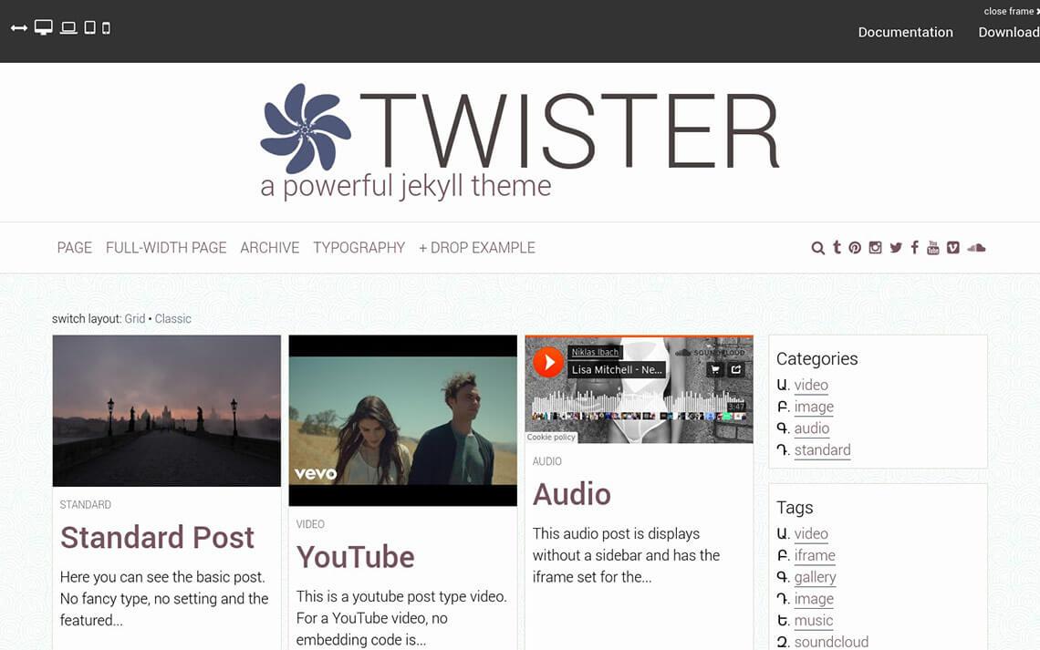 Twister Jekyll Theme