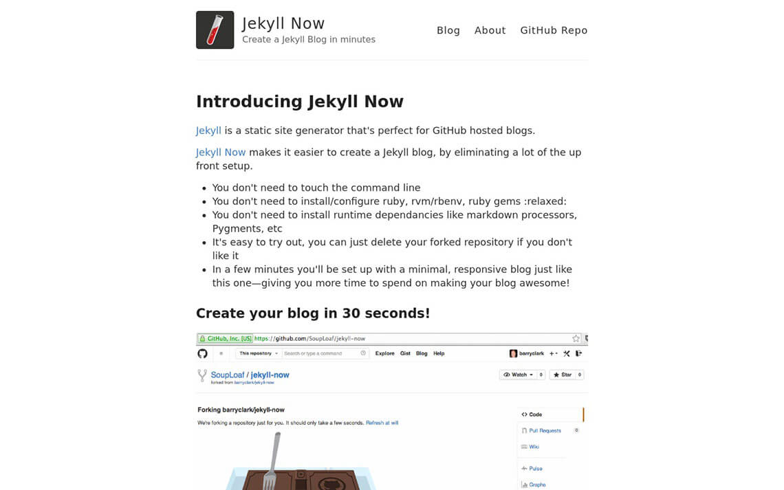 Now Jekyll Theme