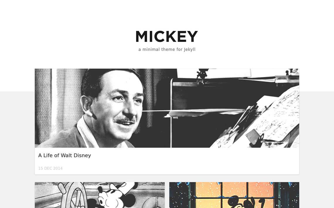 Mickey Jekyll Theme
