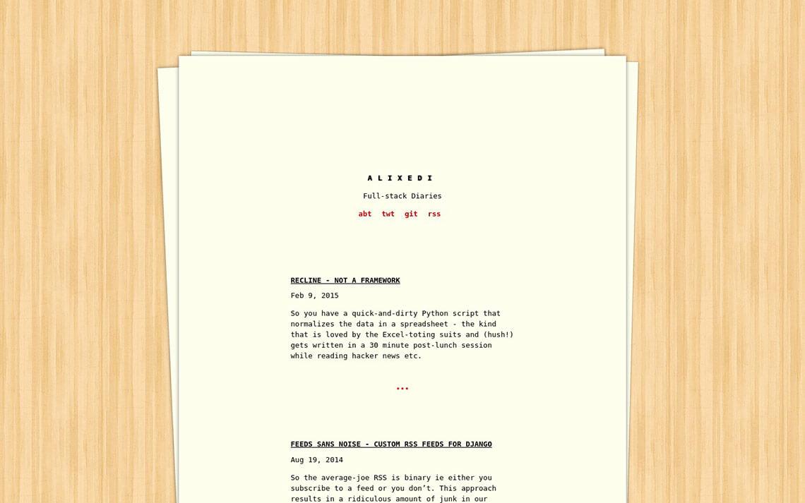 Typewriter Jekyll Theme