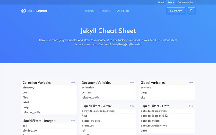 Jekyll Cheat Sheet