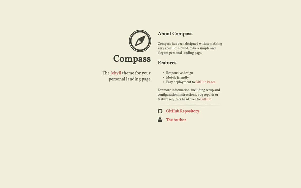 Compass Jekyll Theme