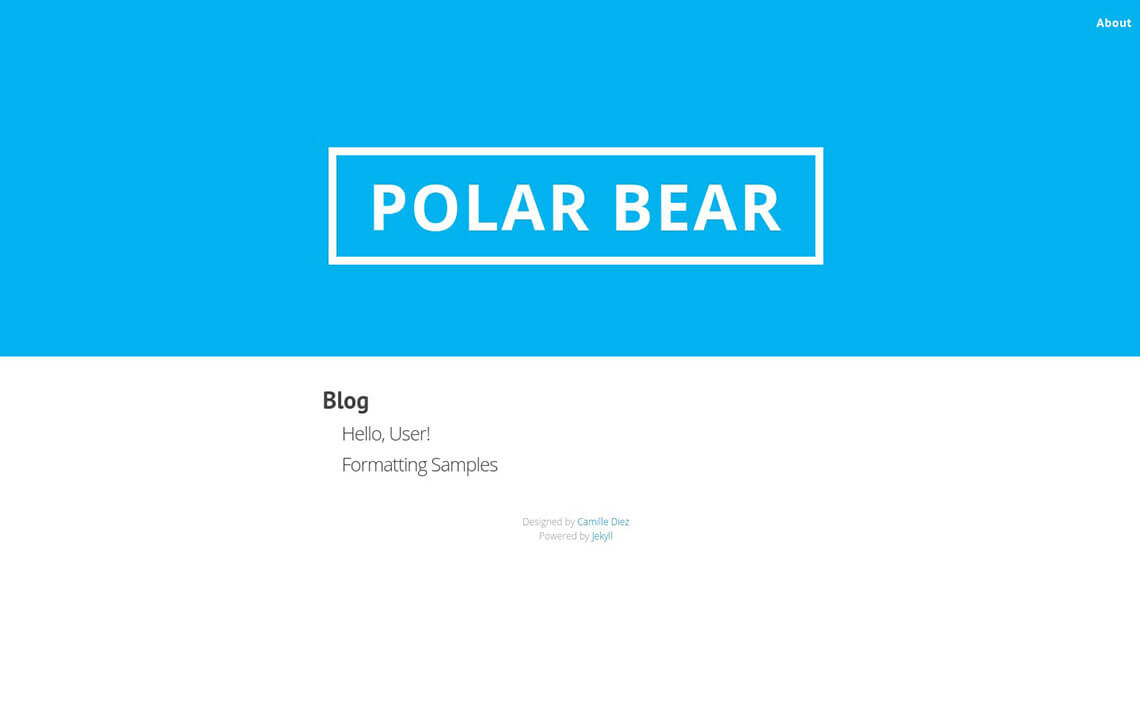 Polar Bear Jekyll Theme