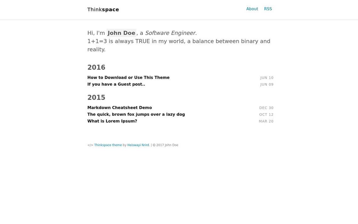 Thinkspace Jekyll Theme