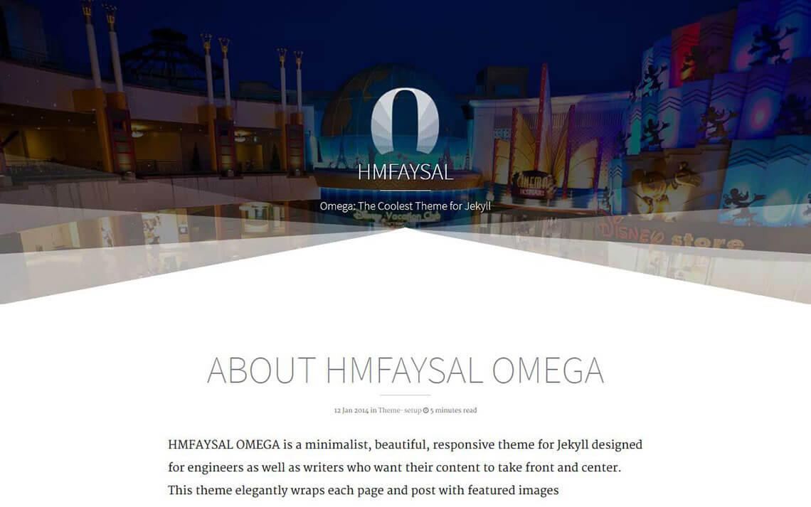 Hmfaysal Omega Jekyll Theme