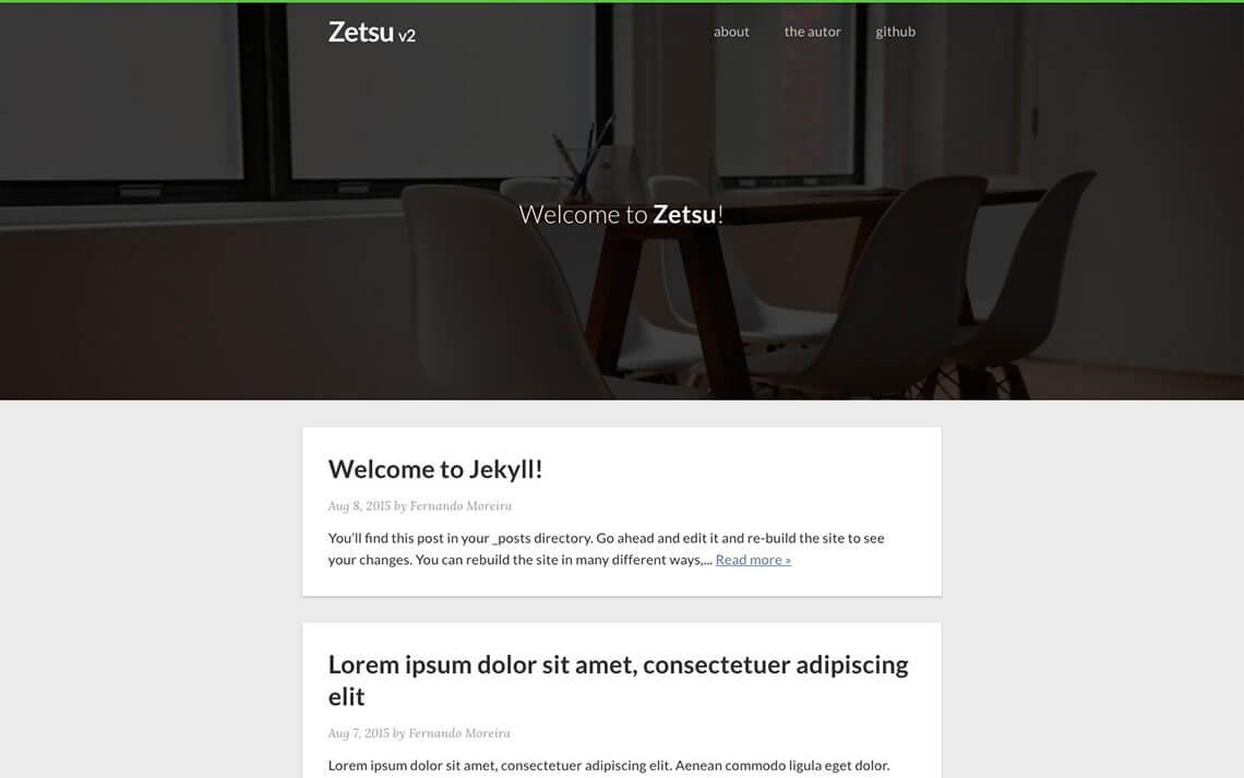 Zetsu Jekyll Theme