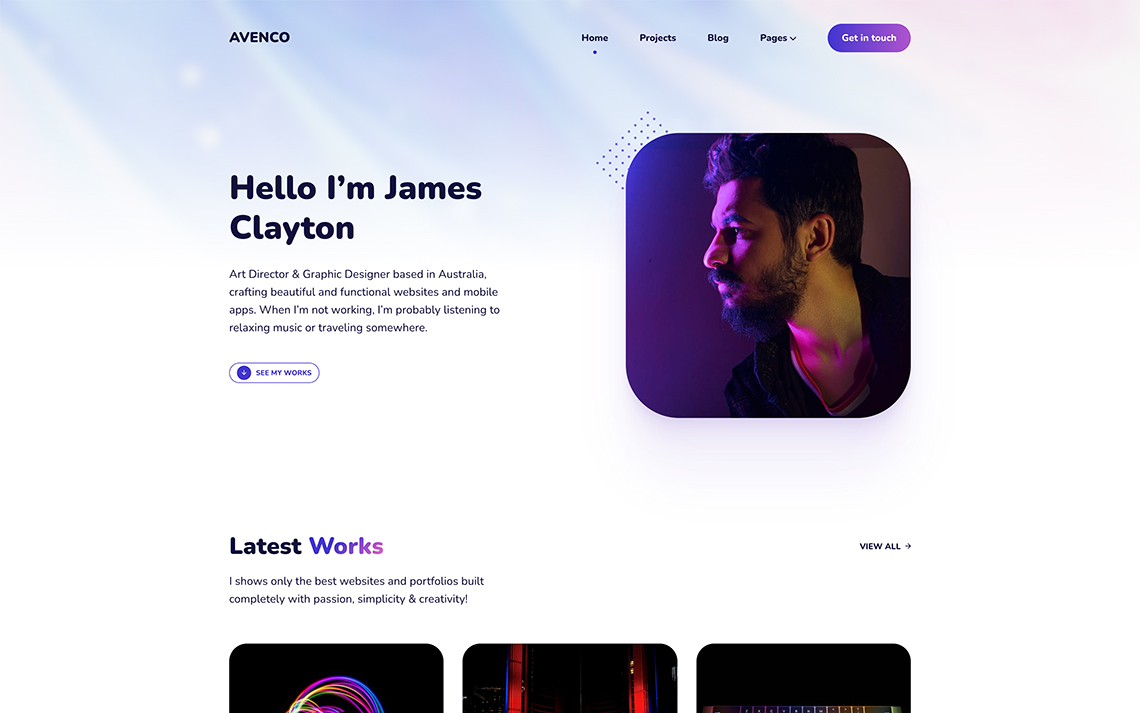 Show your work in a simple yet creative way with Avenco