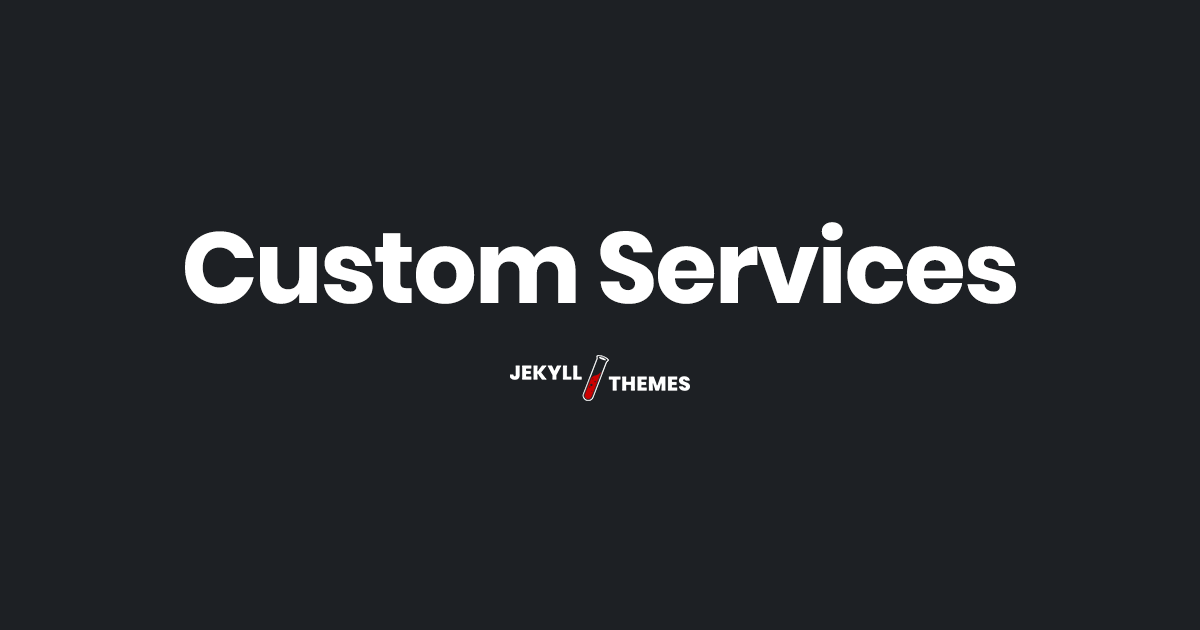 Jekyll Themes at your service!