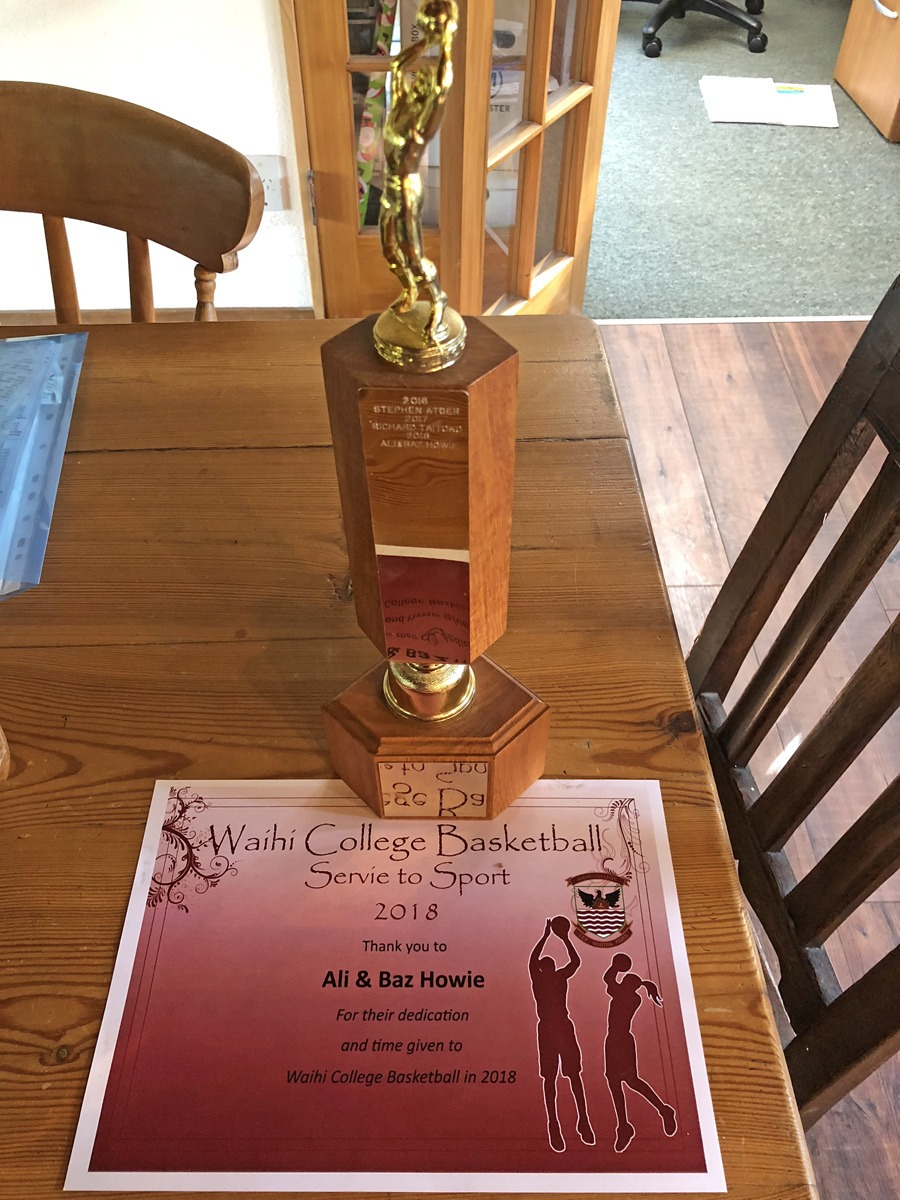 Sport Award - Ali & Baz Howie