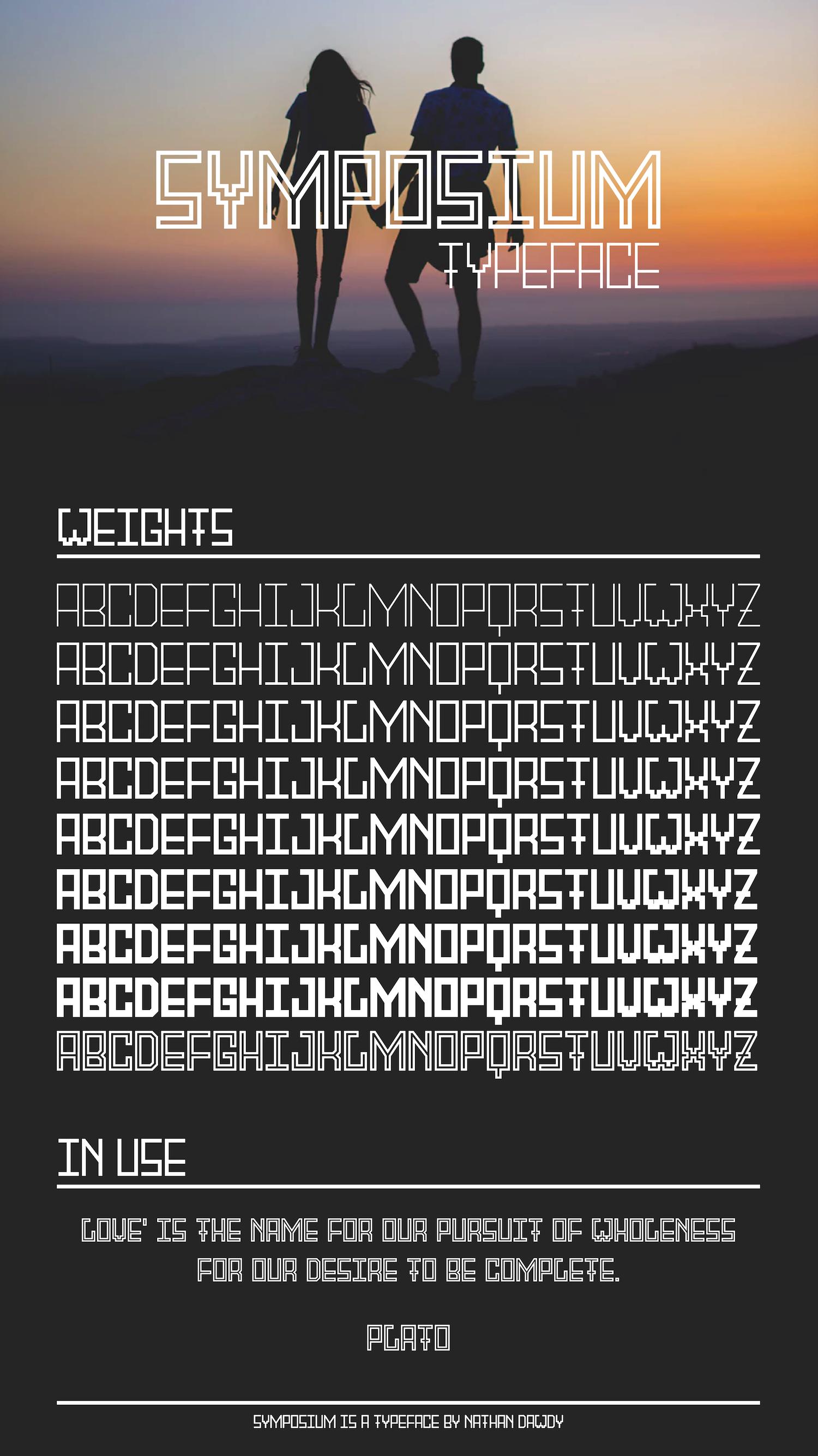 Symposium Typeface