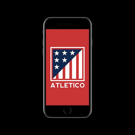 FC MINIMALISM - ATLETICO IPHONE WALLPAPER