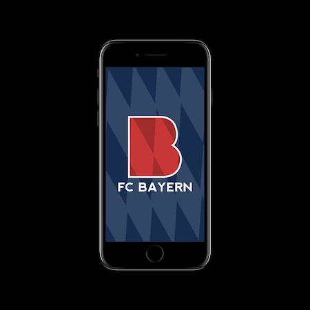 FC MINIMALISM - BAYERN IPHONE WALLPAPER