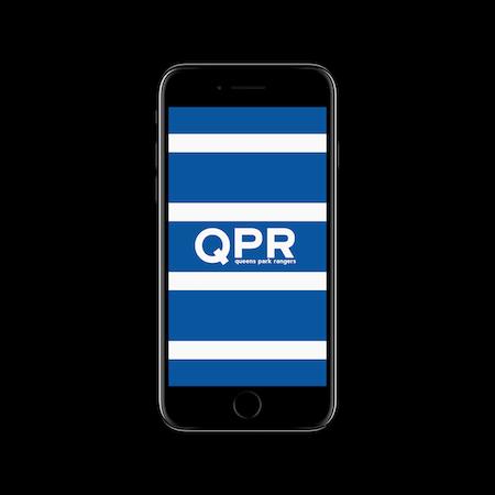 FC MINIMALISM - QPR IPHONE WALLPAPER WHITE